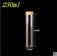 12pcs 47*200mm 230ml Glass Bottles Vials Jars Test Tube With...