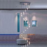 فندق درج الثريا الإضاءة الحديثة لاعبا اساسيا مربع الثريا المطر قطرة الإضاءة دوامة الدرج كريستال الثريات الفولاذ المقاوم للصدأ