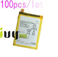 100 adet / grup 2900 mAh LIS1593ERPC Için Yedek Şarj Edilebilir Li-Polimer Pil Z5 E6653 E6683 E6603 E6883 E6633 Piller Batteria Batterij