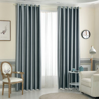 Solid Blackout Curtain For Living Room Bedroom High Density Kitchen  European And American Style Window Treatment