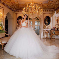 Princess Cap Willeves Ball Planss свадебные платья свадебные платья с жемчугом с бисером кружевной аппликации свадебные платья Vestido de Noiva