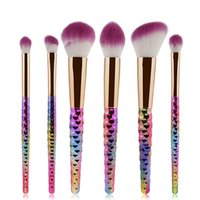 6 stücke bunte Make-up Pinsel Make-up-Tools Puder Erröten Lidschatten Make-Up Pinsel Heißer Verkauf