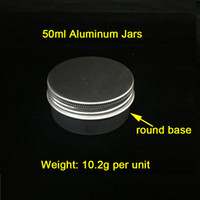 Cheap 50g ml Aluminum Jars Aluminum Wax Containers Smoke Jar...