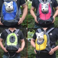 كلب القط جرو المحمولة سفر شركة الطيران المعتمدة الحاملة حقيبة الظهر مع شبكة تنفس قابلة للتعديل حقيبة الأمامية رئيس التصميم مزدوج