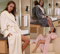 Hot Cashmere Boda Novia Dama de honor Robe Larga Noche Robe Albornoz Peignoir Femenino Moda Vestido para Mujeres Sash Invierno Sleep M-XL