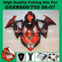 Carenagens de alta qualidade para SUZUKI GSXR600 06 07 GSXR750 K6 K7 GSX-R600 GSX-R750 2006 2007 GSXR 600 750 06 07 # 628P