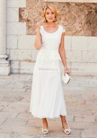 2017 Summer White Chiffon Mother Of The Bride Dresses Cap Sl...