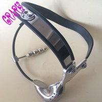stainless steel Y- type male chastity belt device with anal p...