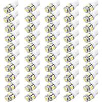 1000 UNIDS / LOTE 12 Voltios LED Luces T10 5050 W5W 5SMD 194 168 2825 158 Bombilla LED Blanca Envío Gratis