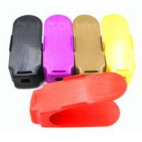 Предметы домашнего обихода Интегрированный Стеллаж Для Хранения Тип Утолщение Простой Пластиковый Симпатичные Сплошной Цвет Крытый Обуви Рок Бесплатная Доставка