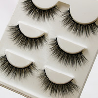 3D False Eyelashes 3D15 3 Pairs Handmade Cotton Thread Messy...