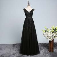 Frisado V Pescoço Lace Tulle vestidos de noite longos 2018 elegantes vestidos de noite chão comprimento vestidos de baile