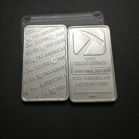 10 개 브랜드 새로운 트로이 오즈 팬 아메리칸 해머 벌금 실버 도금 기념품 막대 동전. 무료 배송.
