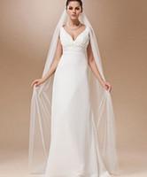 Новое поступление белая слоновая кость вальс длина один слой 2 м мягкий собор Bridal свадебная вуаль аксессуары свадебные с расческой