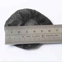 100pack von Small Black Sanitary Kopfhörer Abdeckungen 6cm Einweg-Kopfhörerüberzüge / Non-Woven-Abdeckungen