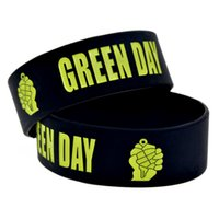 1PC Green Day Silicone Bracelet 1 Inch Wide Bangle Great For...