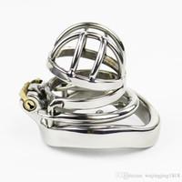 Последний дизайн супер маленький мужской бондаж целомудрие устройство из нержавеющей стали петух клетка см фетиш БДСМ секс игрушки CPA273-1