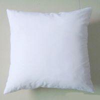 (50 adet / grup) düz beyaz DIY Boş Süblimasyon yastık kılıfı poli yastık kapak 150gsm kumaş 40 cm için kare beyaz yastık kılıfı DIY baskı / boya