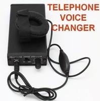 Mais novo telefone trocador de voz Professional voz Disjuntor Transformador Transformador de telefone televoicer handheld Mudança de Voz Gadgets preto