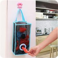 للطي تنفس شبكة معلقة المطبخ أكياس القمامة تخزين الحقيبة حقيبة تسوق فرز قفازات الجوارب المنظمون جودة عالية