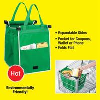 Bolso de agarre clip para el carrito de compras Bolso plegable Ecológico Reutilizable Carro grande Supermercado Bolsas de gran capacidad LC531