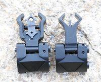 Klapp Vorne Hinten Eisen-Anblick Set Dual-Diamant-Form-Buis für 20mm Berg Jagd-Gewehr-Gewehr Airsoft Zubehör