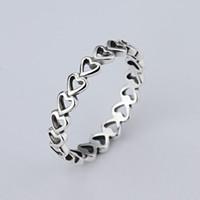 Eine großhandel Einfache LIEBE ringe 925 Silber Unterschrift Ring Fit Pandora Zirkonia Jubiläum Schmuck für Frauen weihnachtsgeschenk