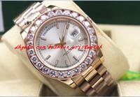 Neue Ankunft Top Qualität Luxus 18 Karat Roségold Mens 41mm18038 Größerer Diamant-Lünette-Uhr Automatische Bewegung Herrenuhr