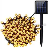 10 متر أدى أضواء سلسلة الشمسية 39FT 100 المصابيح شجرة عيد الميلاد حزب الديكور مصباح للخارجية الفناء ساحة الحديقة حديقة المناظر الطبيعية عطلة ligh myy