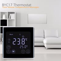 Freeshipping Wekelijkse programmeerbare vloerverwarming Thermostaat LCD Touchscreen Kamertemperatuur Controller Thermostaat Witte achtergrondverlichting
