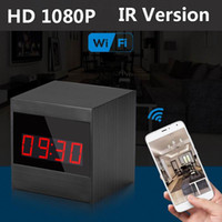Nouveau A10 HD 1080P Infrarouge en grains Version de nuit WiFi Caméra avec réveil sans fil 120Degree Grand angle View Clock Clock Clock Comcorder