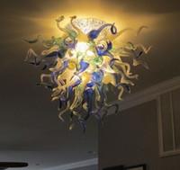 Лампы Art Crystal Multicolor Flush Установлен потолочный светильник Decor LED110V-240V стиль взорванный стеклянный светильник