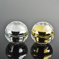 30G vazio luxo diamante esfera acrílico creme recipiente ouro creme para os olhos amostra Cosméticos Jar, Cosméticos Embalagem pote F20171889