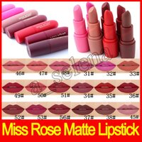 Hot lip makeup Miss Rose Matte Lipstick bullet lipstick prof...