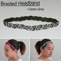 3 Seil camo Geflochtenes Stirnband Sport Baseball Mini für Frauen Männer digital