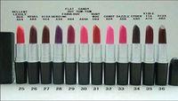 LIVRAISON GRATUITE Bonne qualité Marque Maquillage Maquillage Matte Rouge Rouge A Levres 3G (12 pcs / lots)