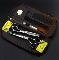 6.0 Inç Jason Profesyonel Kuaförlük Makas Seti Kesme İnceltme Makas JP440C Sıcak Berber Makas Saç Makası Berber Araçları, LZS0634