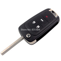 4 Кнопки Стайлинга Автомобилей Складной Ключ Дистанционного Замена Чехол Shell Для Buick Лакросс Regal Verano
