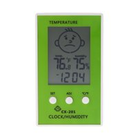 LCD Digital Thermometer Hygrometer Clock Temperature Humidit...
