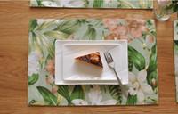 Vendita calda della Tabella stuoie tavola stuoie americani tovaglia fiore di paese tovaglietta mat occidentali tovagliette pad doppia stuoia di spessore