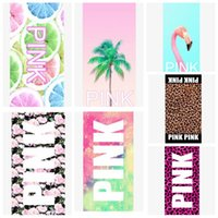 Pink Sports Towel 35*75cm Pink Letter Beach Fitness Sports T...
