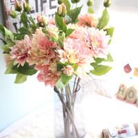 سعر المصنع محاكاة الزهور فرع واحد الداليا مصنع بالجملة الزهور الاصطناعية لحفل زفاف المنزل decortaion