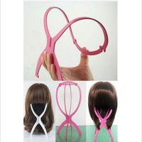 Peruca de Plástico Dobrável Stand Estável Durable Suporte de Cabelo Indicação Perucas Hat Cap Titular ferramentas de extensão de cabelo