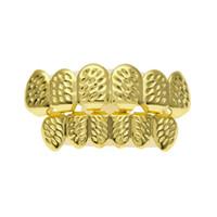 أحدث 18 كيلو الذهب الحقيقي مطلي نجمة مثلجة خارج الهيب هوب الأسنان جريلز أعلى أسفل هالوين عيد الميلاد حزب هدية