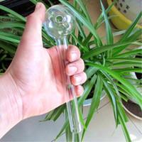 Quemador de aceite de vidrio de 8 pulgadas quemador de aceite de tubo grande Tubo de vidrio de tubo de aceite Nail tubo de fumar de vidrio grueso