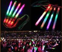 A estrenar Multi Colorful LED Parpadeante Lámpara de luz nocturna Glow Wand Sticks + correa Cumpleaños Fiesta de Navidad festival Campamento