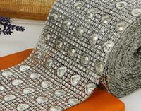 10yard prata coração contas de malha de malha de envoltório envoltório corrente de corrente para costurar sacola apperal sapatos decoração
