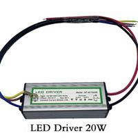 Transformateur d'éclairage LED Driver 20W étanche IP65 entrée AC85-265V sortie DC 24-38V courant constant 600ma aluminium sûre haute qualité
