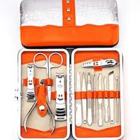 13-teiliges Nagelkunstwerkzeug-Maniküre-Set mit Nagelknipser Abgestorbene Haut, Gabelnägel, Feilenpflegesets, Edelstahl