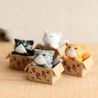 Dibujos animados Gato Micro Paisaje Mini Figurines Fantasy Fairy Garden Decoration Artesanías Decoración Del Hogar Miniaturas DHL Envío Gratis